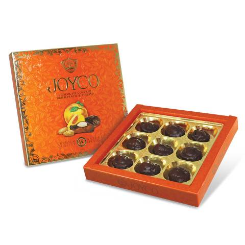 Chocolate Covered Dried Peaches with Almonds 190g