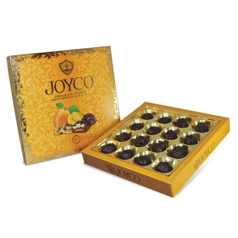 Chocolate Covered Dried Apricots with Walnuts 300g